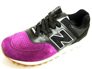 ニューバランス m576 黒紫